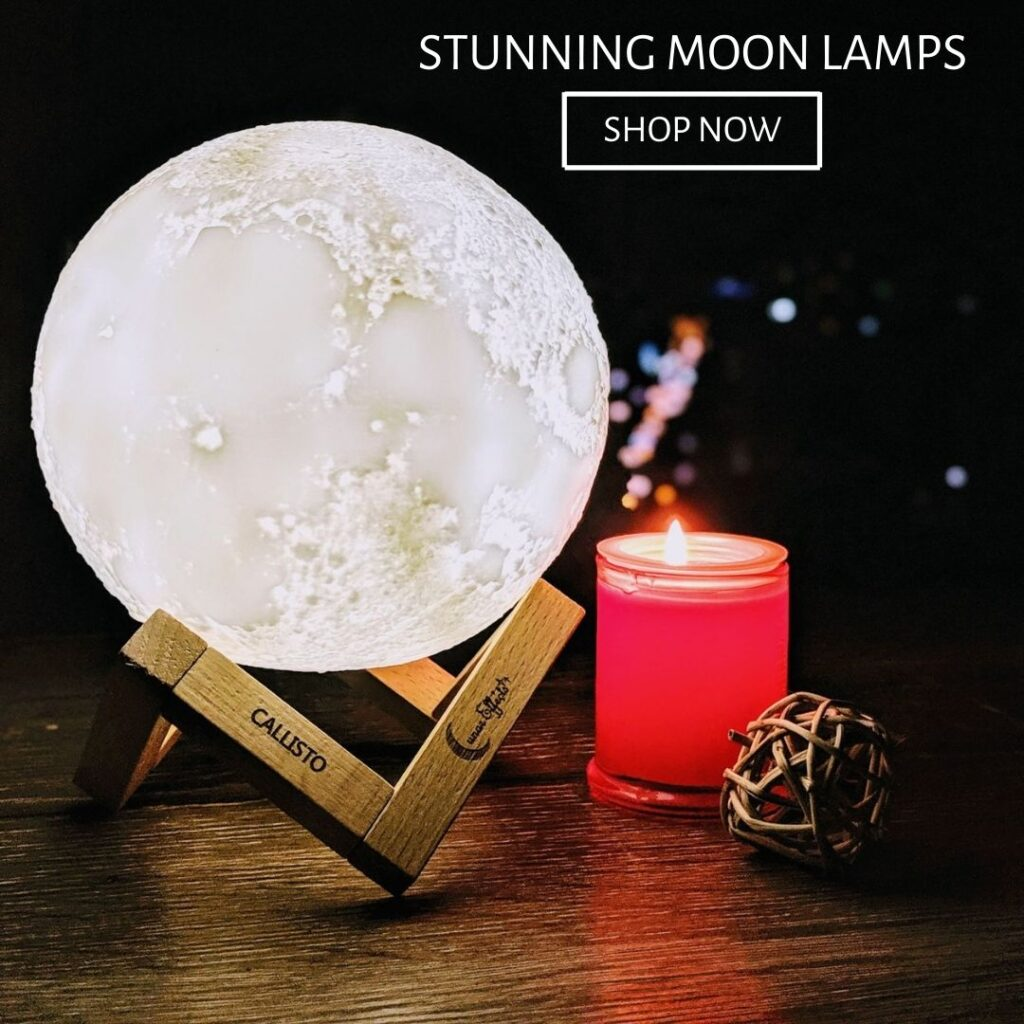 Moon Lamp with Candle
